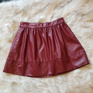 🎃SALE🎃Red Vegan Leather Skirt